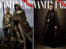 late carrie fisher joins star wars cast for magazine shoot