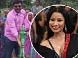 nicki minaj brings clean water to indian village