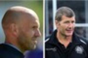 rob baxter and paul tisdale wish each other well ahead of...