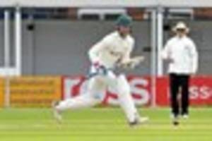 leicestershire ccc coach pierre de bruyn is happy with points...