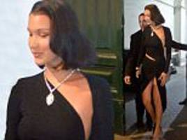Bella Hadid risks a wardrobe malfunction in Rome