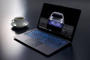 The Vaio Z Mercedes-Benz special edition laptop makes a car noise when it boots up