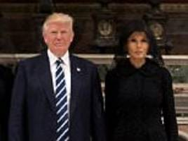 melania holds trump's hand during visit to sistine chapel