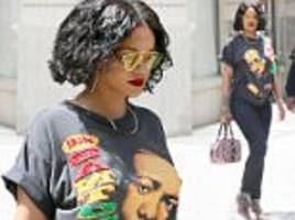 rihanna is dressed-down in new york