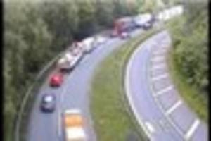 live: m6 to remain closed during rush hour after serious accident...