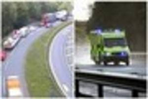 M6 in Stoke-on-Trent closed after five people die in accident...