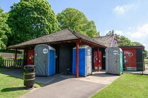 vandals steal cash from toilet doors and force closure of public toilets in bath's main parks