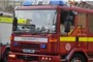 two fire engines were called to a house fire in canterbury - man...