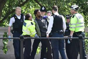 Knifeman arrested near Buckingham Palace moments before Queen passes by in car