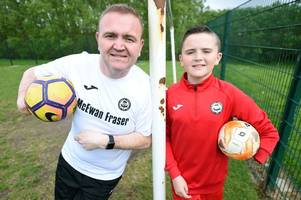 One-handed Cambuslang goalie set to represent Scotland at amputee football