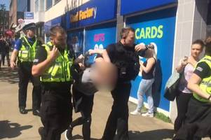 man arrested by police following swansea city centre evacuation