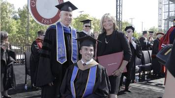 Mum and disabled son in joint graduation