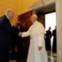 Donald Trump meets with Pope Francis at the Vatican