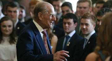 prince philip enjoys 'very witty' chat with dofe award group in northern ireland