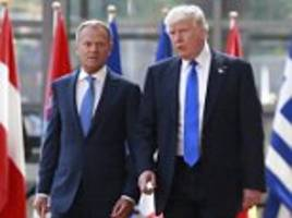 trump meets eu chiefs tusk and junker in brussels