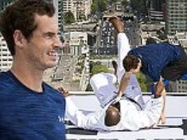 andy murray takes on olympic judo champion teddy riner