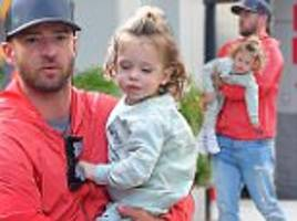 justin timberlake dotes on son silas in new york