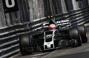 photos of haas f1's new livery on track