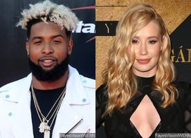 odell beckham jr. and iggy azalea are cozying up in romantic bowling date