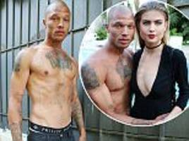 Jeremy Meeks mingles with models at Philip Plein in Cannes