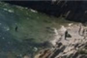 man ends up in sea fully clothed following 'police chase'