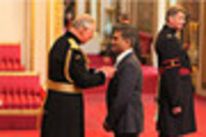 cofresh boss ​priyesh patel collects mbe from prince charles