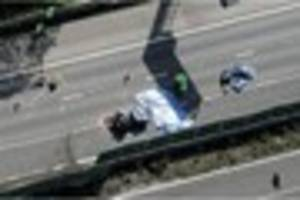 M6 fatal crash: Police continuing to quiz HGV driver after five...