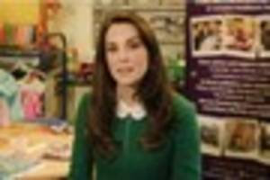 duchess of cambridge sends video message to children's hospice...