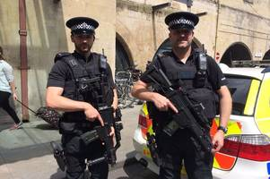 Armed police officers on streets of Bath to 'reassure' public