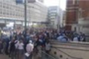 huge crowd gathers in croydon for minute's silence in memory of...