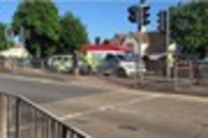emergency services rushed to folkestone after a cyclist and car...