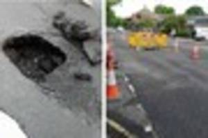 ​horley sinkhole which appeared last week will be repaired 'as...