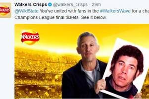 Walkers Crisps Twitter campaign sees Gary Lineker inadvertently holding pictures of murderers and paedophiles