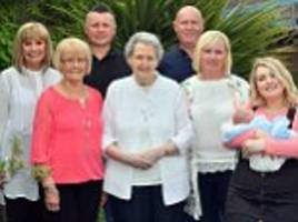 baby boy completes five generations on two sides of family