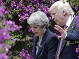 theresa may and donald trump discuss how to defeat isis