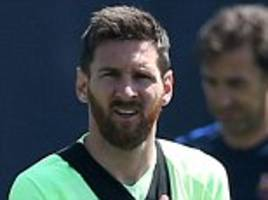 lionel messi and neymar train with focus for barcelona