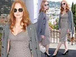 jessica chastain arrives for board member duties in cannes