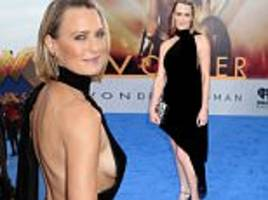 robin wright flashes sideboob at wonder woman premiere