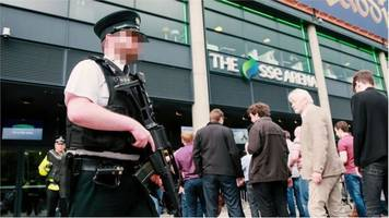 newspaper review: belfast's black-backpack security test