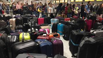 Gatwick Airport flights depart without luggage