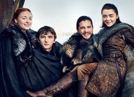 'Game of Thrones': New Photos Reunite the Four Starks, Final Season Episode Count Is Revealed