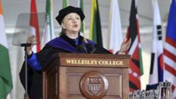 Clinton warns of 'end of a free society' blasting Trump during commencement speech