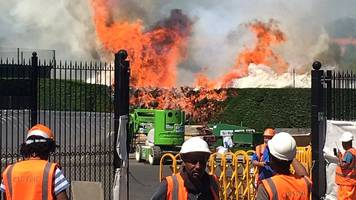 wimbledon fire: blaze at all england club tennis courts