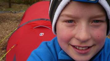 borders schoolboy completes year sleeping in a tent