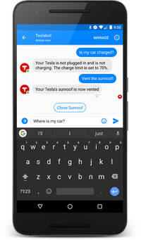 SmartCar connects Facebook's chatbot to your Tesla