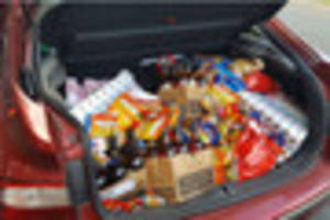 three arrested after haribo sweets, chocolate, whiskey and even a...