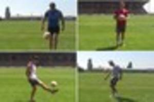 watch hull kr and fc players take on the keepie uppie challenge