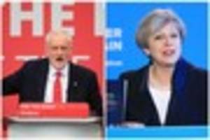 general election 2017: concersatives lead over labour to to five...