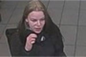 Police are looking for this woman after a number of bank cards...