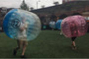want to play for england? bubble football just got serious...